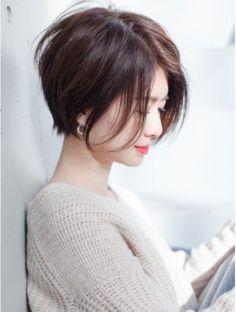 Haircut Girl Hairdos 17 Ideas For 2019 Girl Short Hair, Short Hair Cuts, Short Bob Hairstyles, Pretty Hairstyles, Japanese Short Hair, Shot Hair Styles, Girl Haircuts, Fine Hair, Hair Dos
