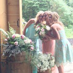 Bridesmaids, wedding, barn wedding, wedding venue