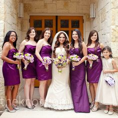 Love the color for bridesmaid dresses