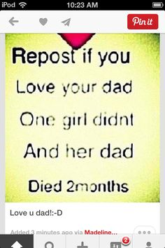Repost if you love your dad