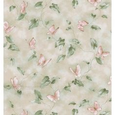 Brewster Home Fashions Kitchen and Bath Resource II Butterfly Lily Pad Trail Wallpaper