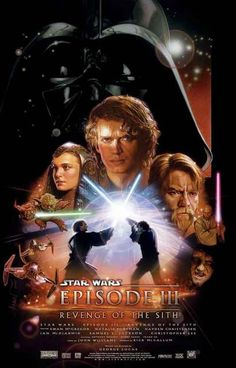 Star Wars Episode III Revenge of the Sith Cast Art Movie Poster 11x17