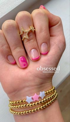Cute Gel Nails, Funky Nails, Simple Acrylic Nails, Simple Nails, Stylish Nails, Trendy Nails, Acryl Nails, Nail Jewelry, Fire Nails