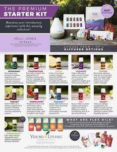 premium starter kit, starter kit, essential oils, young living
