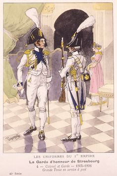 colonel gardes d'honneur de Strasbourg