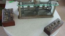 ANTIQUE TORSION BALANCE PHARMACEUTICAL SCALES/WEIGHTS VINTAGE OLD