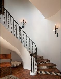 tiled floor and stairs.