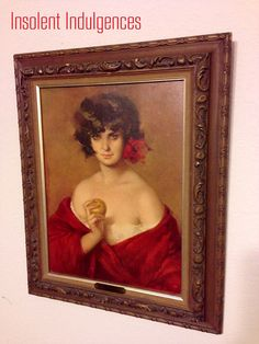Vintage Mysterious Evita Puyet Portrait by InsolentIndulgences, $200.00