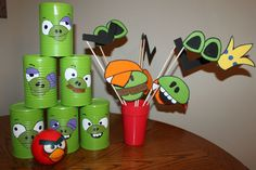 Angry Birds Party: Can toss & Photo Booth