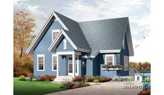 Cottage Style House Plans - 1579 Square Foot Home , 2 Story, 3 Bedroom and 2 Bath, 0 Garage Stalls by Monster House Plans - Plan Cottage Style House Plans, House Plans 3 Bedroom, Cottage Style Homes, Country House Plans, Small House Plans, Cottage Design, Cottage Ideas, Plan Chalet, Drummond House Plans