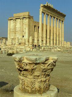 Palmyre (Syrie) - Temple de Baal - détail