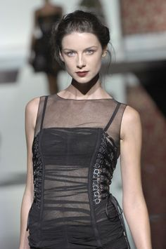 "readytorunway: "" Caitriona Balfe at Dolce & Gabbana Spring/Summer 2008 Look Number 31 Detail """