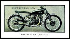 British Tradecard - Vincent Black Lightning, 1953 | Flickr - Photo Sharing!