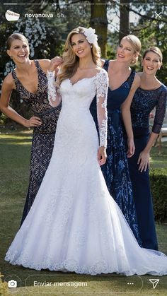 30 Fall Wedding Dresses With Charm ❤️ fall wedding dresses a line with illusion long sleeves delicate lace miss stella york Simple Wedding Gowns, Long Sleeve Wedding, Fall Wedding Dresses, Bridal Dresses, Bridesmaid Dresses, Wedding Bride, Lace Wedding, Wedding Ideas, Mermaid Dresses