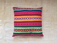 Handmade Vintage Peruvian Textile Pillow Hot Pink door ThomasSires