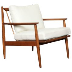 Mid-20th Century Teak Chair | From a unique collection of antique and modern armchairs at http://www.1stdibs.com/furniture/seating/armchairs/