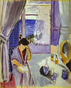 Woman Reading at a Dressing Table (Interieur, Nice) - Henri Matisse
