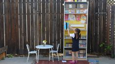 Cute and quick video on how to turn a bookshelf into a great kids craft storage unit.