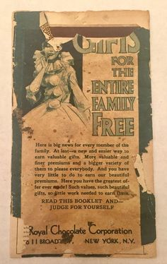 Vintage Royal Chocolate Corporation New York NY Prize Catalog Booklet Ephemera   eBay