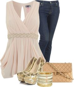 """""""Bead Contest #2 - Beaded Waist Top"""" by sannroberts ❤ liked on Polyvore"""