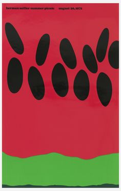 Poster, Summer Picnic | hccw | charrison-design | Visits | Collection of Cooper Hewitt, Smithsonian Design Museum