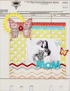 jbs inspiration: MOM by Waleska- love the cut out chevron design