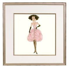 Framed Barbie, Robert Best  I'd like a whole wall of framed prints for my daughter's room.