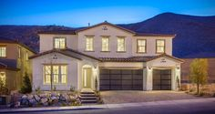 Sarasate Plan at Overlook at The Cove in Las Vegas, NV, now available for showing by Joe iuliucci Houses In Vegas, New Homes Las Vegas, Las Vegas Getaways, 5 Bedroom House, Las Vegas Nevada, Full Bath, Renting A House, House Plans, Real Estate