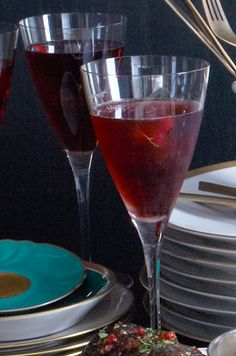 Kir Royale ... was Audrey's favorite cocktail.  Here's one for you!  Love you, Linda