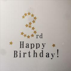 3歳の息子の誕生日 シンプルな飾り付け