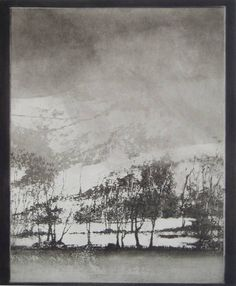Norman Ackroyd - 'Cartmel in Winter' Abstract Landscape, Landscape Paintings, Landscapes, Norman Ackroyd, Painting Prints, Art Prints, Etching Prints, Monochrom, White Art