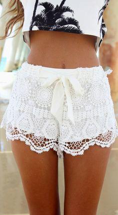 Pantalones cortos de encaje. Super fresquitos