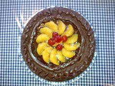 Chocolate cake decorated with mandarin orange and clear sugar syrup. Syrup, Chocolate Cake, Acai Bowl, Cake Decorating, Sugar, Orange, Breakfast, Awesome, Food
