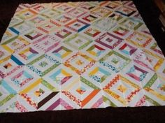 jelly roll quilt patterns   Modern Workshop Jelly Roll Quilt - free pattern