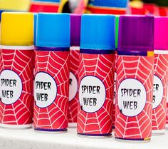 A great idea for a #Superhero Birthday Party is a spider web fight! Lots of fun! Featuring SIMONEmadeit Party Printables http://www.simonemadeit.com/superhero-birthday-party/