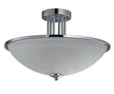Потолочный светильник - металл - хром, 25хØ40 см