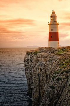 Lighthouse - Gibraltar Strait, UK - Shot a few bearings off of this on a few occasions. Always an exciting time - entering or leaving the Med. Lighthouse Pictures, Beacon Of Light, Light Of The World, Places To See, Scenery, Castle, Tower, Around The Worlds, Ocean