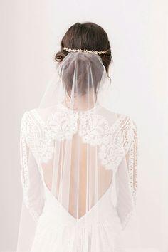 Headpiece & Veil by Britton Bridal Accesories