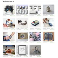 """My Owly was included in """"May Various Finds VI"""" Treasury byJelena on Etsy"""