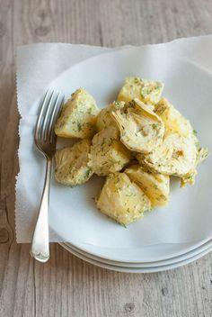 Πατατοσαλάτα με Αγκινάρες και Dressing Μουστάρδας - Potato Salad with Artichoke Hearts and Mustard Dressing (in Greek). The Foodie Corner www.thefoodiecorner.gr
