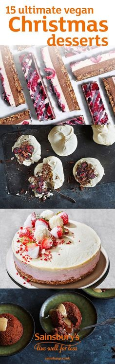Whether you're cooking for vegan friends or just want to hop on the vegan trend this Christmas, these vegan desserts will change the way you think about pudding. From amazing raw cheesecakes to mincemeat tarts topped with crumbly streusel and genius vegan meringues with whipped coconut cream, these beautiful desserts are the true stars of Christmas Day. Did we mention we've got a vegan espresso martini chocolate mousse?