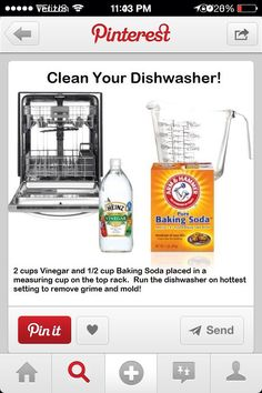 Clean your dishwasher