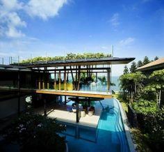 Concilier style contemporain et toiture végétalisée : 20 exemples