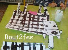 vache pour les PS quadrillage avec voitures trempées dans de la peinture