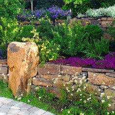 More stone.  Colour scheme - yellow greens; warm purples and a hint of cold yellow.