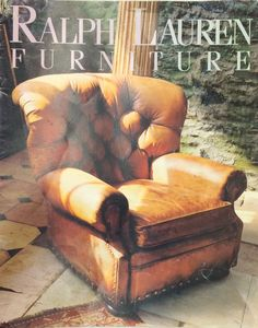 Ralph Lauren Home Archives, Unknown collection, Leather Chair, Unknown Year