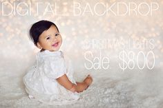 Modern Baby Photography — Digital Backdrop - Christmas Lights
