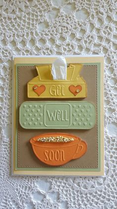 Darice embossing folder, Get well soon Paper Cards, Diy Cards, Scrapbooking, Embossed Cards, Get Well Soon, Thanksgiving Cards, Get Well Cards, Card Envelopes, Card Sketches