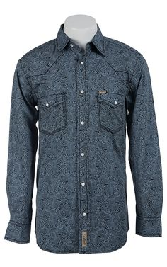 Rafter C Cowboy Collection Men's L/S Western Snap Shirt RCX1511702- Big & Talls | Cavender's