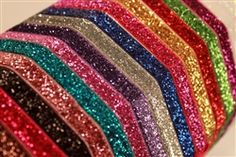 """Glitter Elastic sold by the yard $1.10, I""""ll have to do this eventually!"""